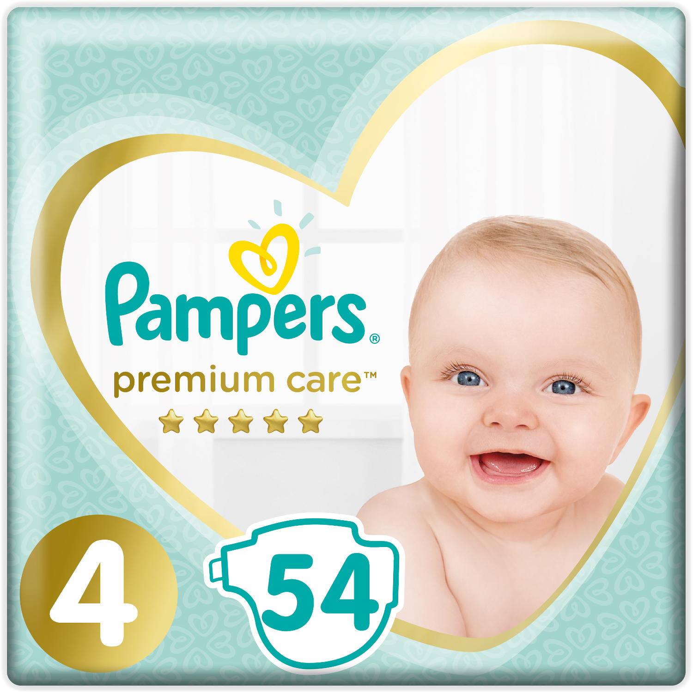 Подгузники Pampers Pampers Premium Care Maxi 4 (9-14 кг) 54 шт. подгузники детские pampers подгузники pampers active baby dry 8 14 кг 4 размер 106 шт