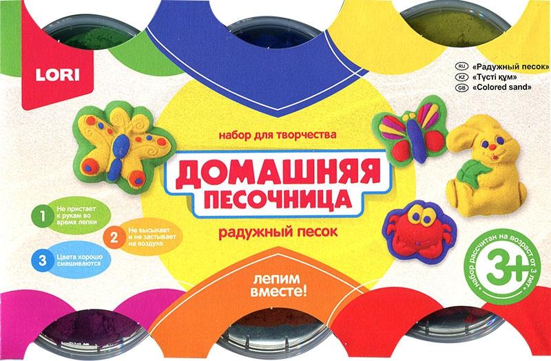 Набор для творчества Русский стиль Радужный песок 6 цветов