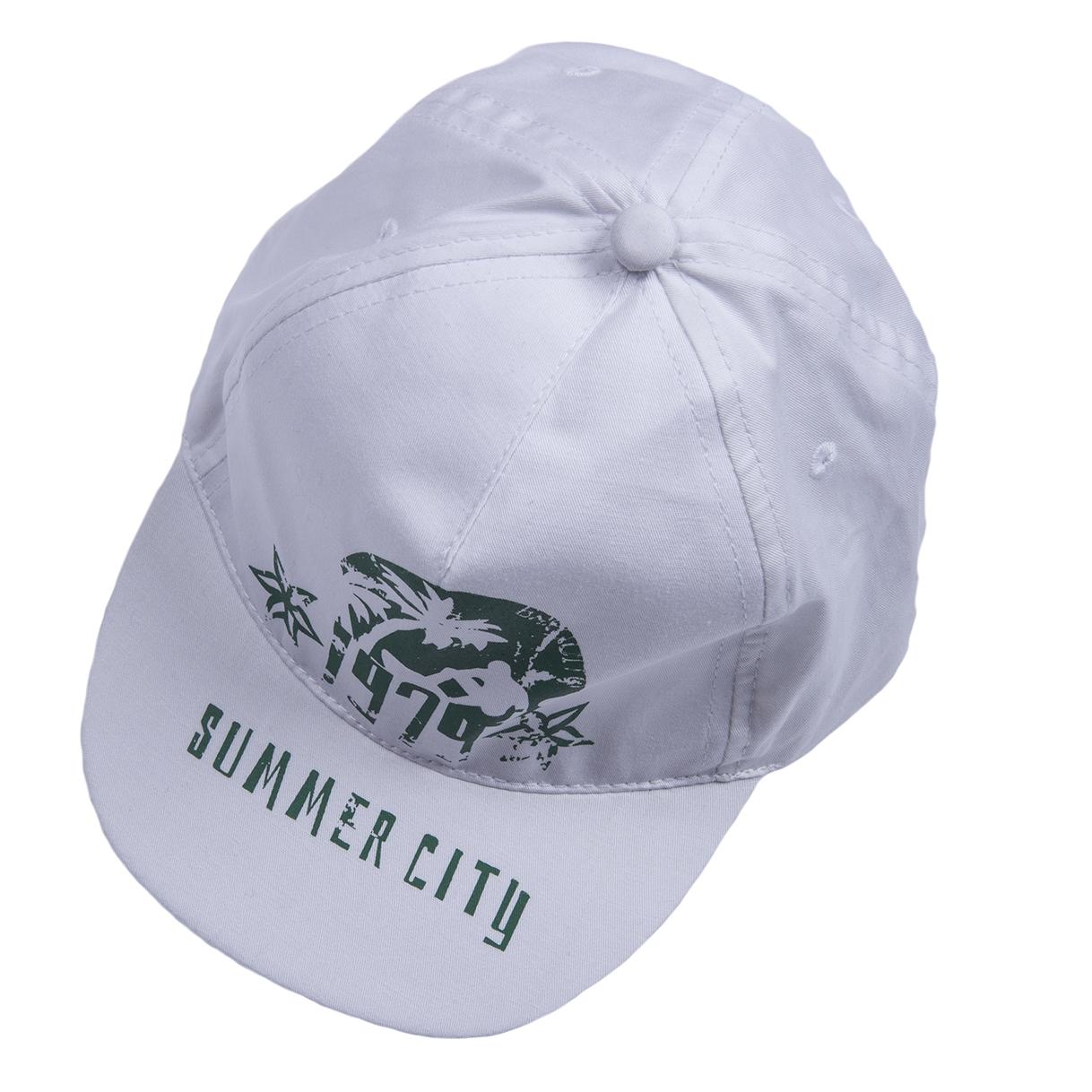 Головные уборы BARQUITO Кепка для мальчика Спорт Barquito белый головные уборы