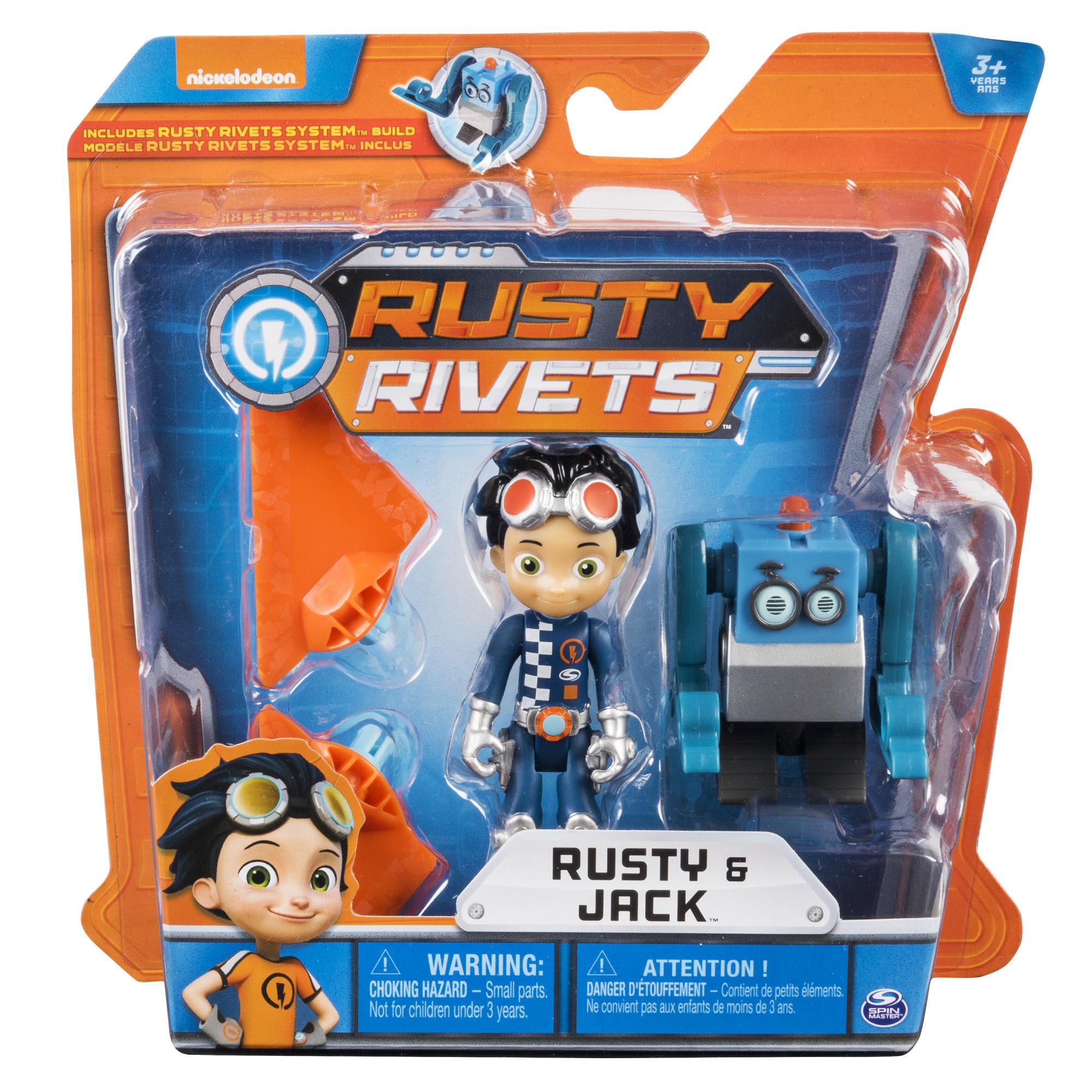 Фигурки героев мультфильмов Rusty Rivets Игровой набор Rusty Rivets с фигуркой Расти в асс.