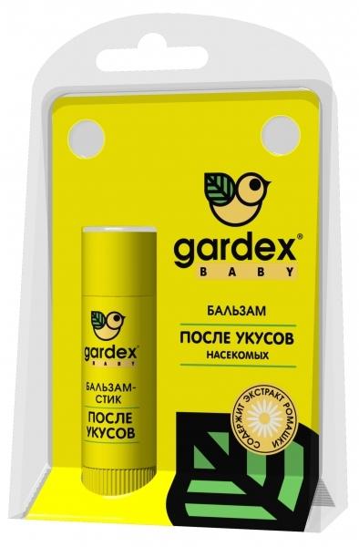 Средства от насекомых Gardex Для защиты дет.ей после укусов насекомых бальзам стик после укусов насекомых gardex baby с 1 года 7 мл