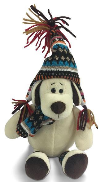 Мягкие игрушки ABtoys Мягкая игрушка ABtoys «Собака в шапке» 24 см игрушка abtoys abtoys mp002xc002bl