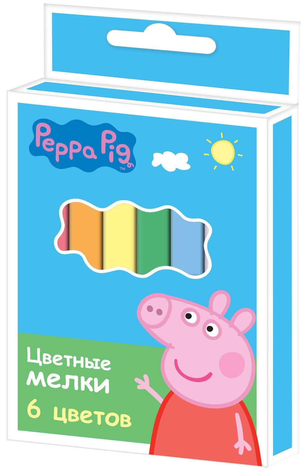 Peppa Pig Peppa Pig Набор цветных мелков Peppa Pig «Свинка Пеппа» 6 цв. peppa pig пазл для малышей хобби 6 в 1