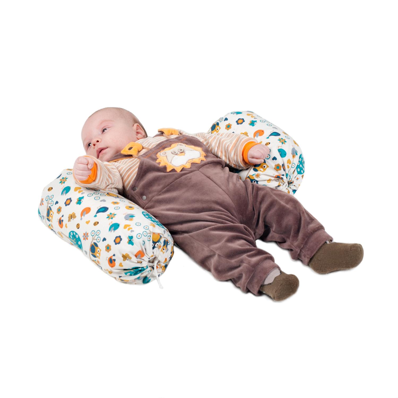 Аксессуары для кроваток HoneyMammy Позиционер для новорожденных HoneyMammy Grano Saraceno «Owls and Birds»