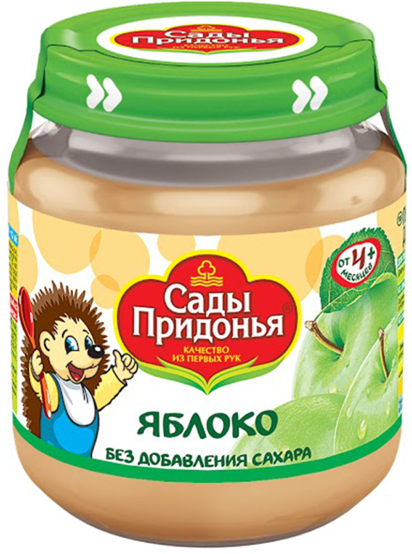купить Пюре Сады Придонья Сады Придонья Яблоко (с 4 месяцев) стеклянная банка 120 г по цене 33.9 рублей