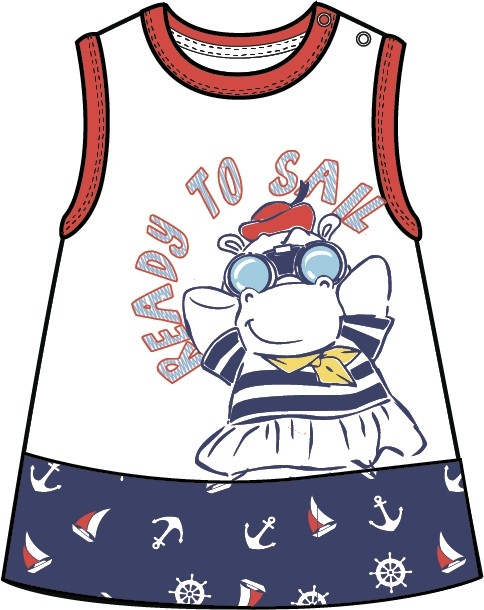 Платье для девочки Barkito Barkito Морская академия белое с синей отделкой платья barkito платье без рукавов barkito алоха гавайи белое