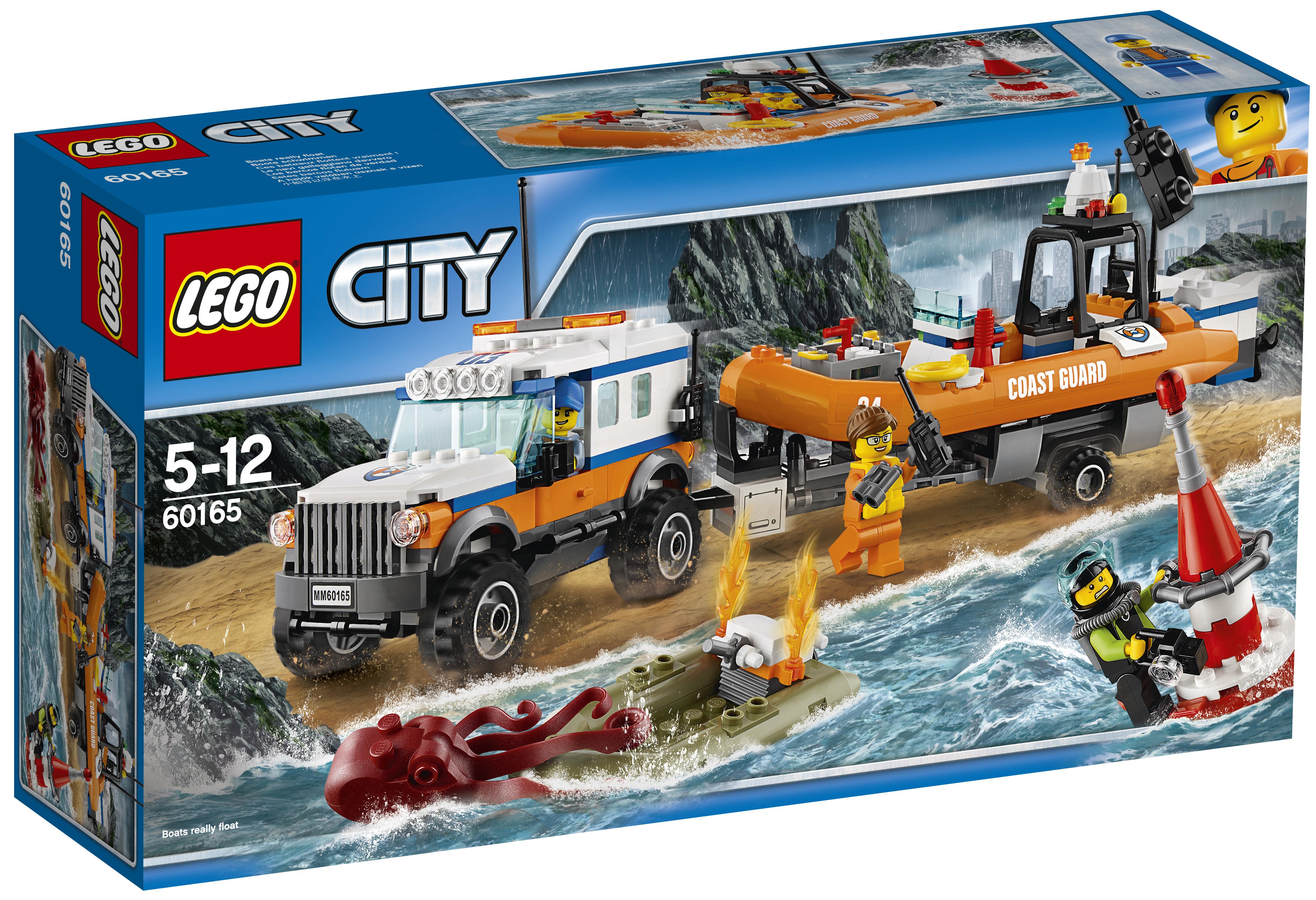 Конструктор LEGO LEGO City Coast Guard 60165 Внедорожник 4х4 команды быстрого реагирования конструктор lego city coast guard штаб береговой охраны 60167