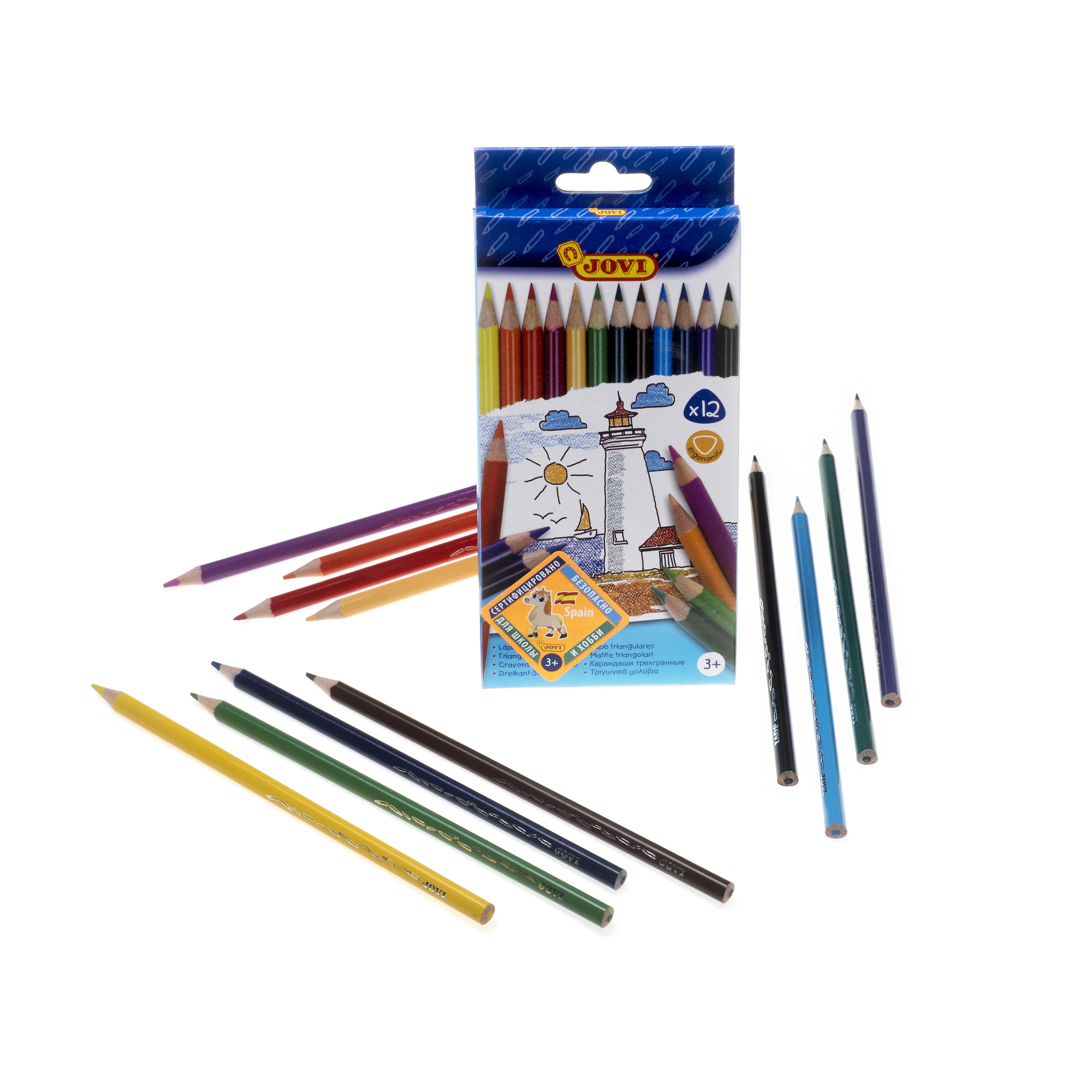 Ручки и карандаши Jovi Карандаши цветные JOVI 12 цв. стоимость