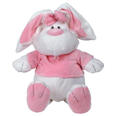 Мягкая игрушка Гулливер Кролик белый сидячий Gulliver 41 см