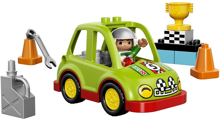 LEGO DUPLO LEGO Конструктор LEGO DUPLO 10589 Гоночный автомобиль lego duplo my first основные элементы lego® duplo®