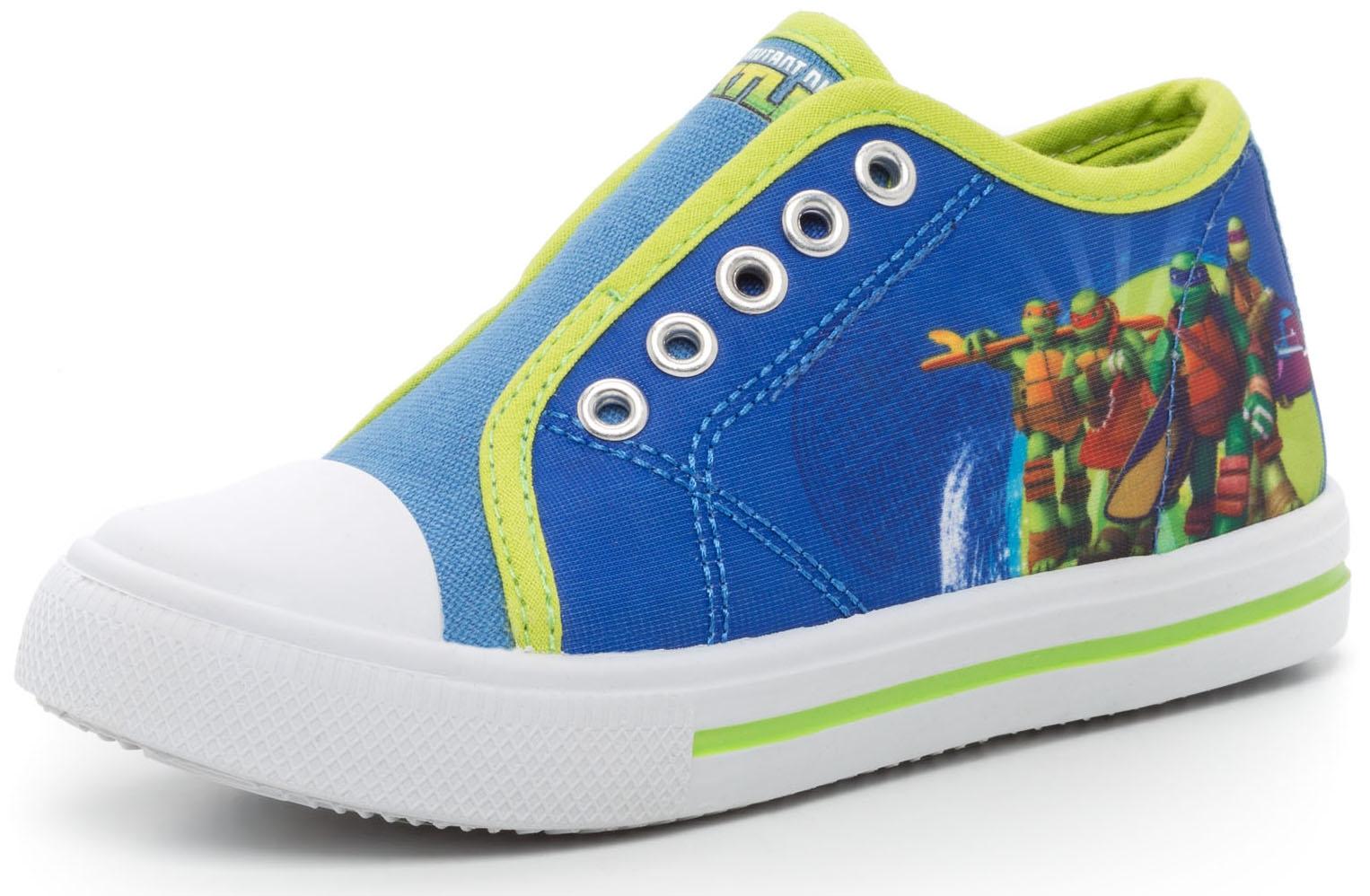 Черепашки Ниндзя TM NINJA TURTLES Полуботинки типа кроссовых для мальчика Tm Ninja Turtles, синий с красной отделкой игровые фигурки turtles черепашки ниндзя с растягивающимися руками