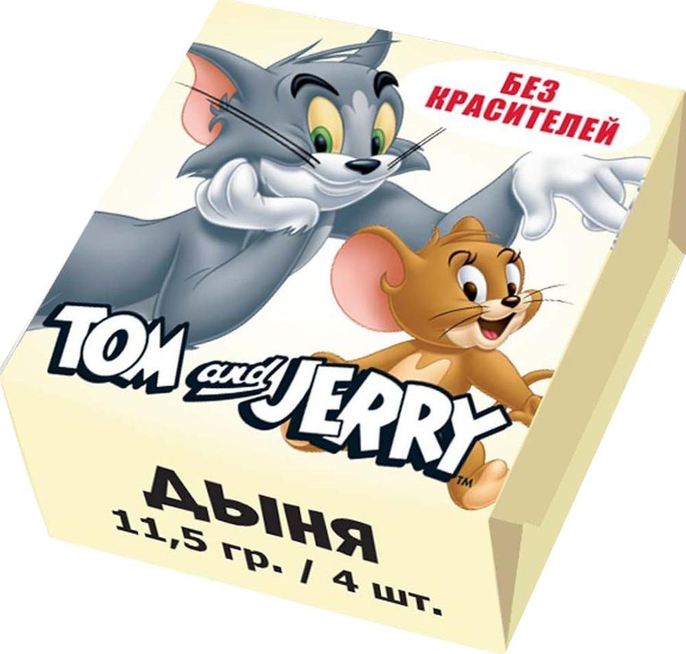 Фото - Конфеты жевательные TOM&JERRY Tom and Jerry со вкусом Дыня 4х11.5 г fritt жевательные конфеты со вкусом вишни с витамином с 70 г