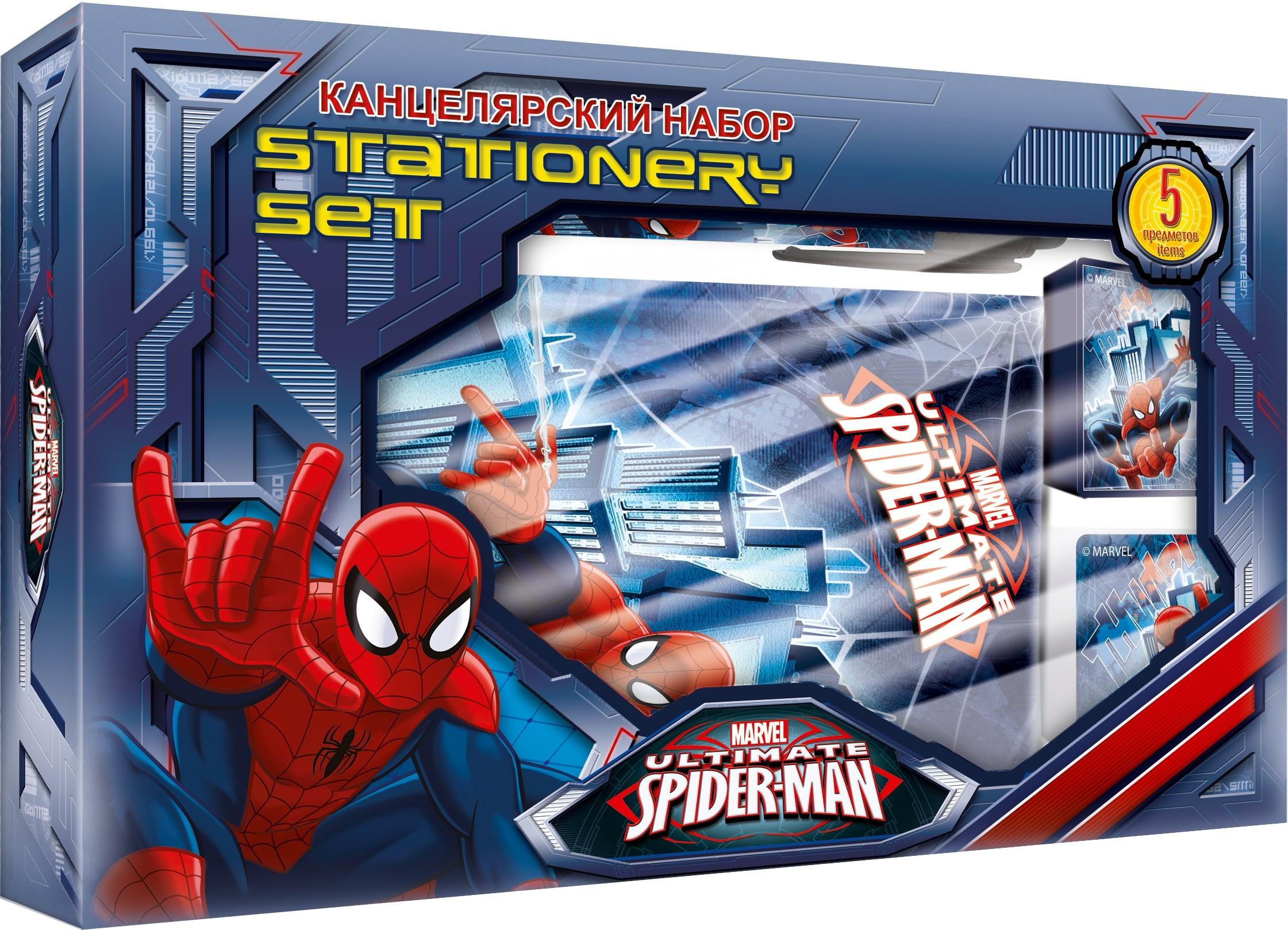 Пеналы и наборы Spider-man Набор канцелярский Spider-Man в подарочной коробке набор канцелярский spider man 2 пр