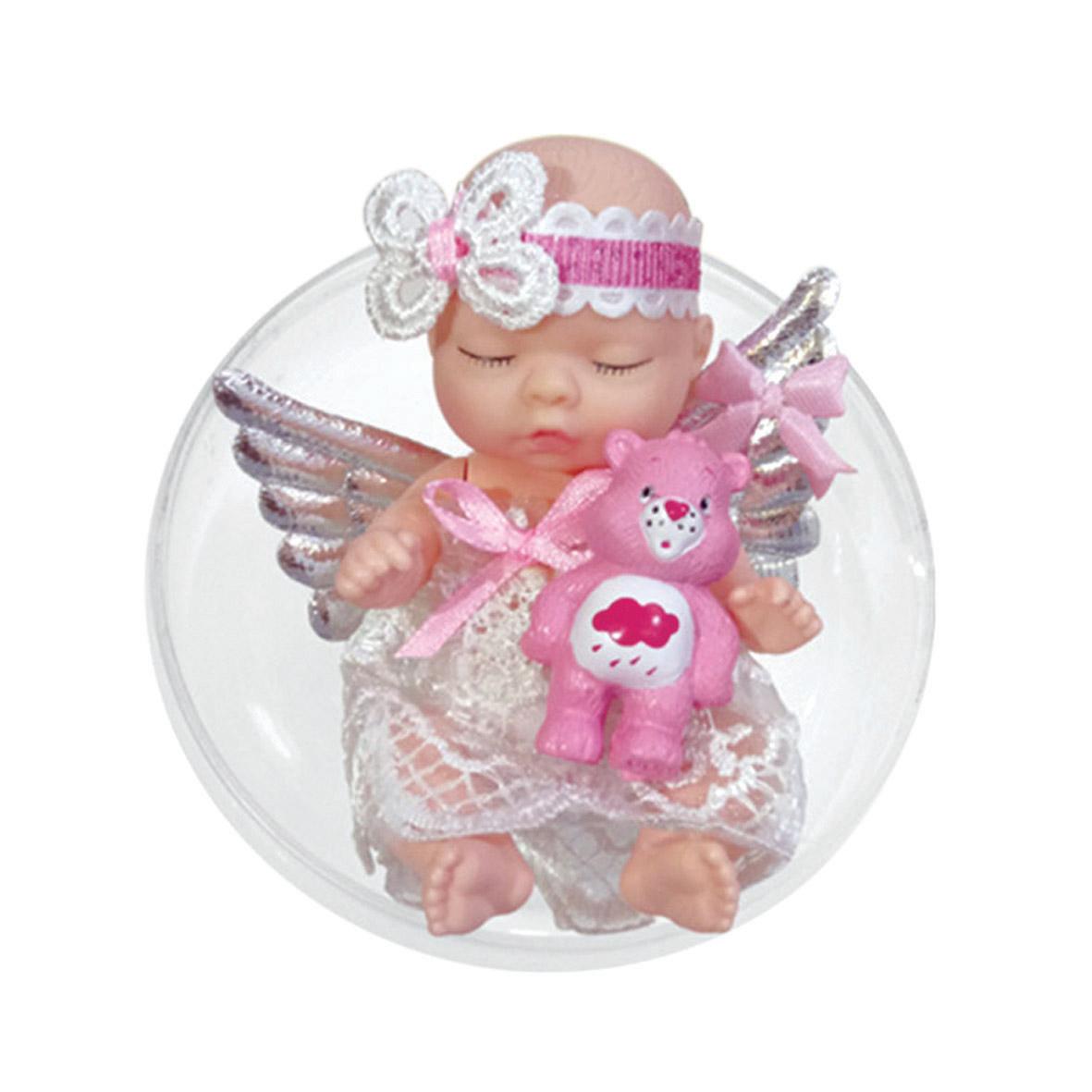 Другие куклы Junfa Toys Ltd Кукла в шаре Junfa Toys «Ангелочки» в асс. подвеска сова на шаре 80мм полистоун стекло в асс те