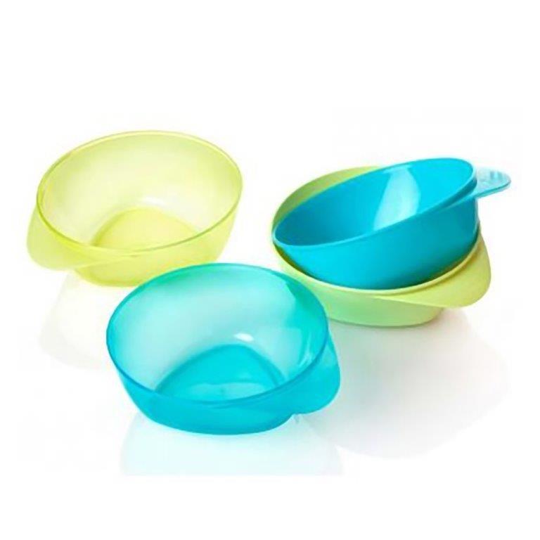 Набор глубоких тарелочек Tommee Tippee 4 шт. зеленые/голубые тарелки и миски tommee tippee 4 шт зеленые голубые