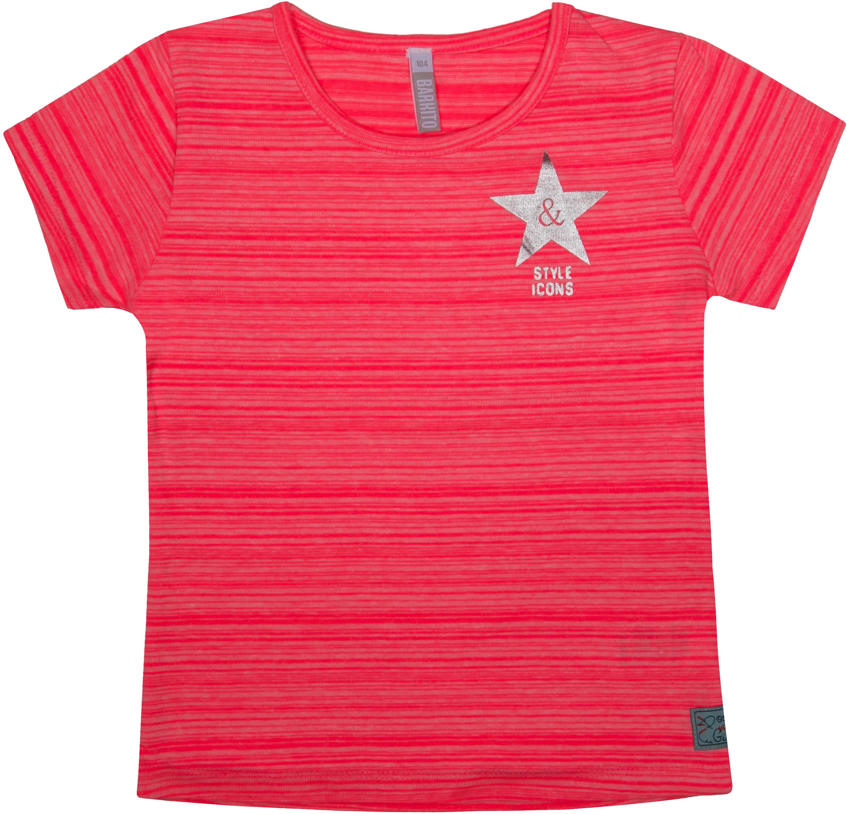 Купить Джемпер с коротким рукавом, Спортсменка-1, 1шт., Barkito 45Y-27006MKOR, Индия, pink, Женский