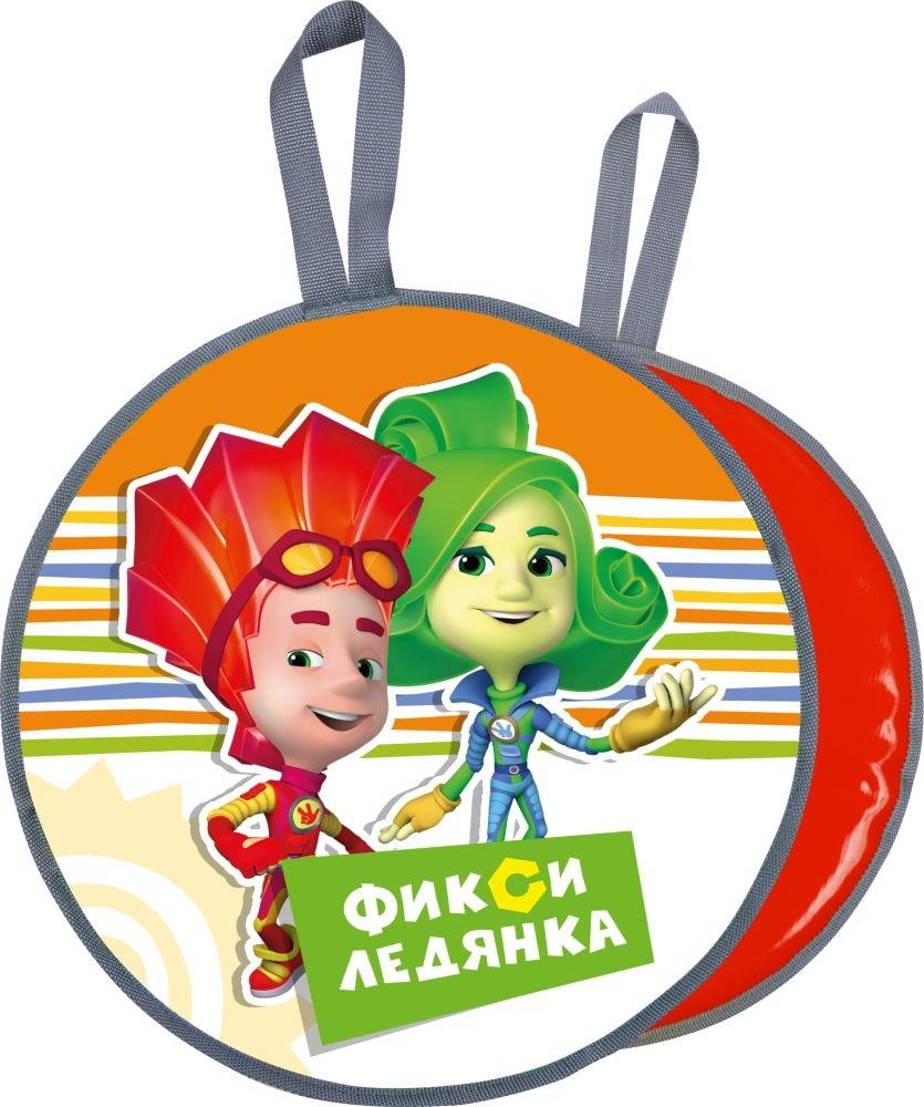 Ледянки Nika Фиксики оранжевая круглая. ника ледянка фиксики зеленые