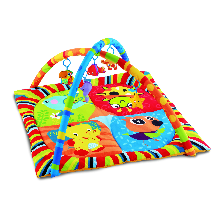 Игровой развивающий коврик Умка с мягкими игрушками на подвеске