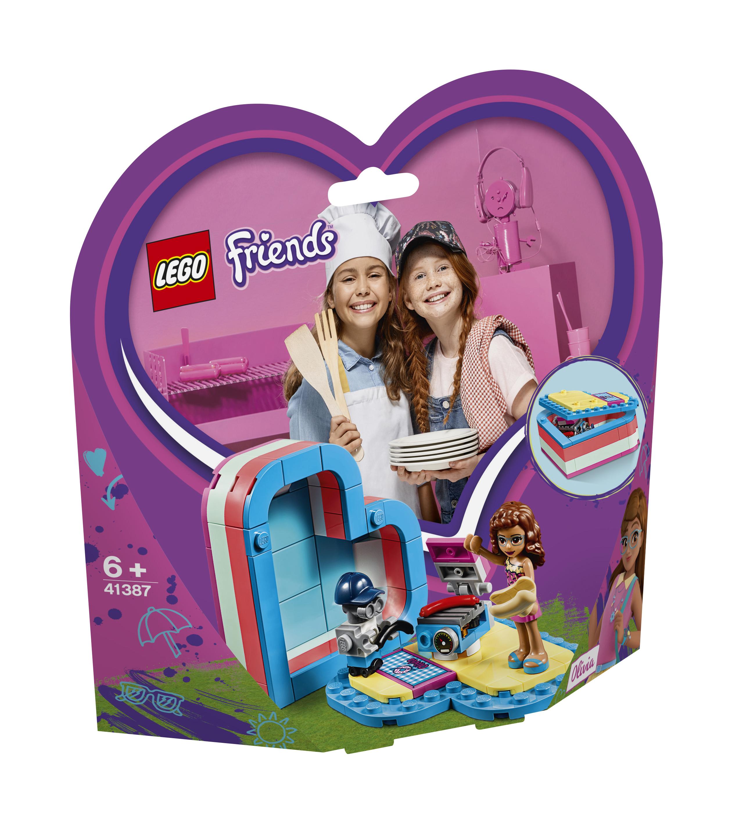 Конструктор LEGO Friends 41387 Летняя шкатулка-сердечко для Оливии