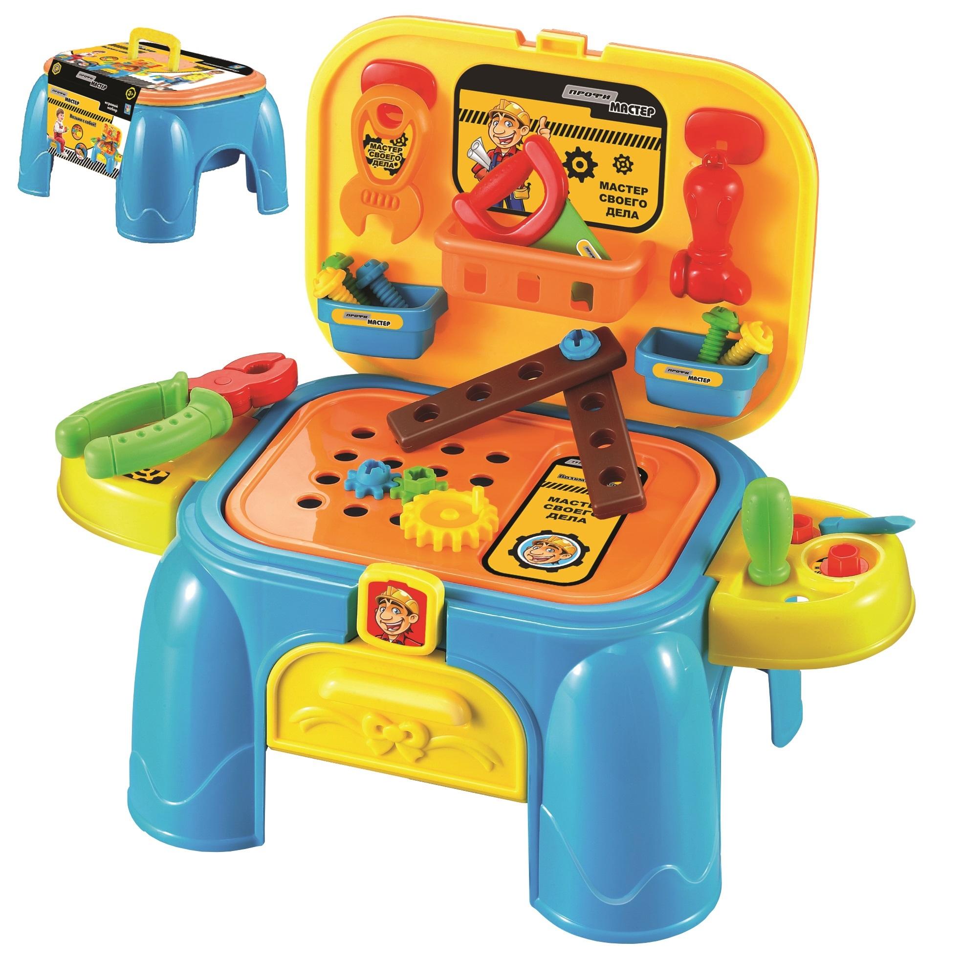 Наборы игрушечных инструментов 1toy Игровой набор 1Toy «Профи Мастер» 2в1 32 пред. 1toy игровой набор профи малыш цвет красный голубой зеленый
