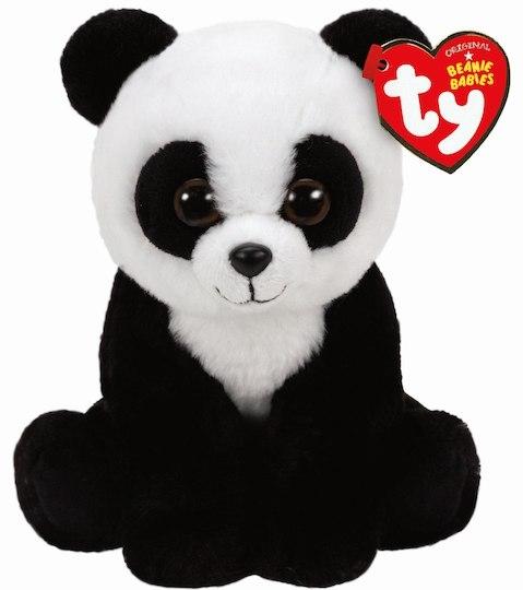 Купить Мягкая игрушка, Панда Baboo, 15 см., 1шт., TY 41204, Китай, черно-белый