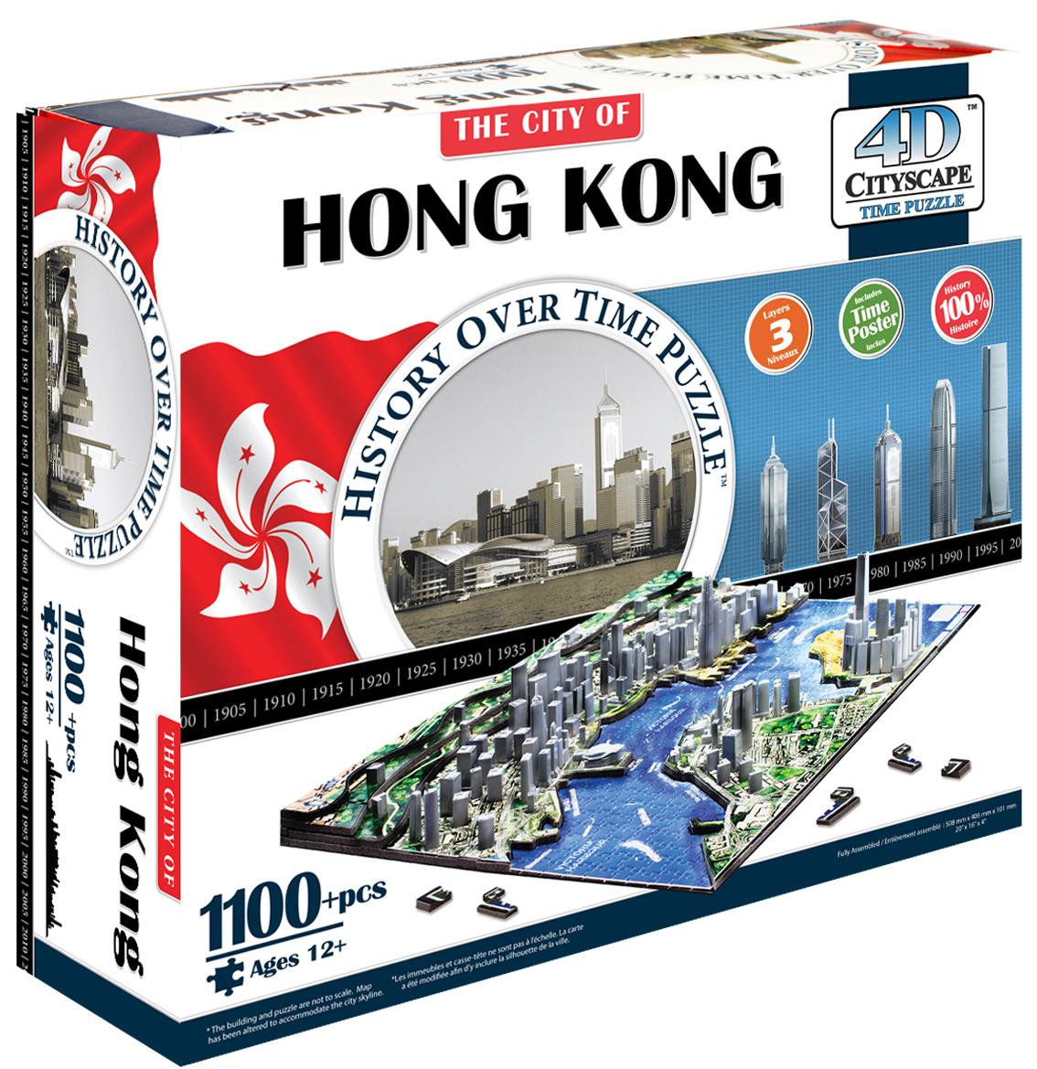 Пазлы 4D Cityscape Пазл 4D Cityscape «Гонконг» 1000 дет. объемный волчок beyblade 4d beyblades 4d bb 119 beyblade hyperblade bb119