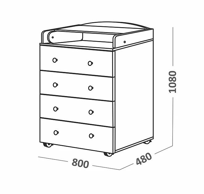 Комоды и шкафы СКВ-Компани 70006 детский 70006 3dlight