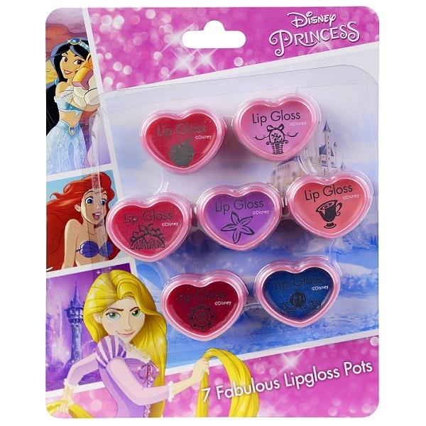 Декоративная косметика Markwins Набор блесков для губ Markwins «Princess» в баночках 7 шт.