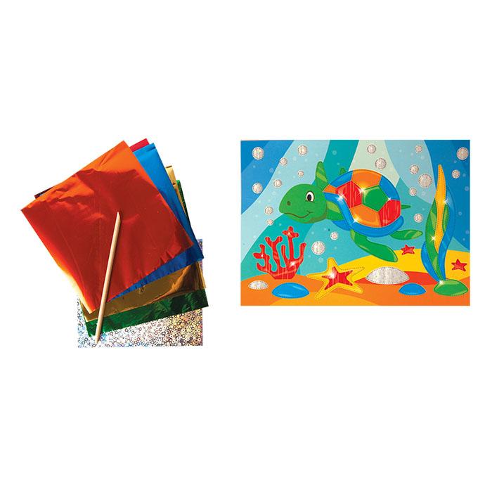Наборы для творчества Каляка-Маляка Набор для творчества Каляка-Маляка «Черепашка» аппликация фольгой ручки и карандаши каляка маляка карандаши пластиковые каляка маляка 12 цветов