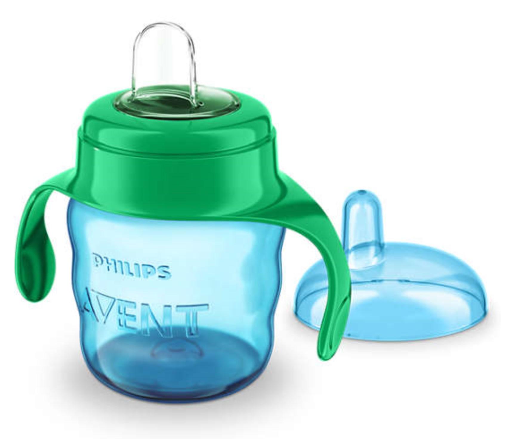 Чашки и поильники Philips AVENT Чашка-непроливайка Philips Avent «Comfort» с 6 мес. 200 мл голубая avent philips 4 в 1