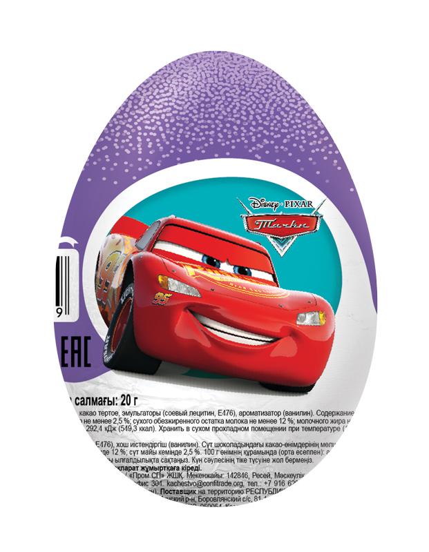 купить Шоколадное яйцо с игрушкой Конфитрейд «Шоки-токи. Disney тачки» 20 г по цене 85 рублей