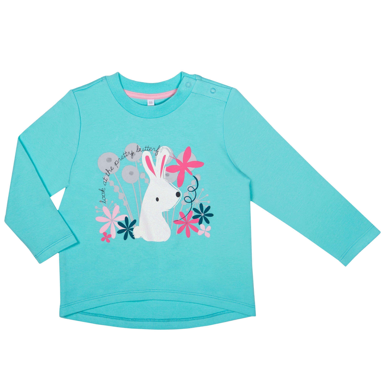 """Футболки Barkito Футболка с длинным рукавом для девочки Barkito """"Сказочный лес 2"""",голубая футболка с длинным рукавом для девочки barkito сказочный лес 1 розовая"""