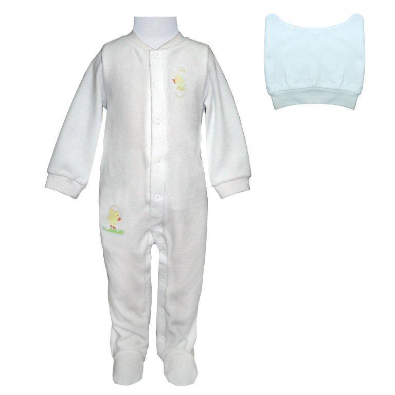 Первые вещи новорожденного Barkito Комбинезон, шапка Домашний очаг белый цена 2017