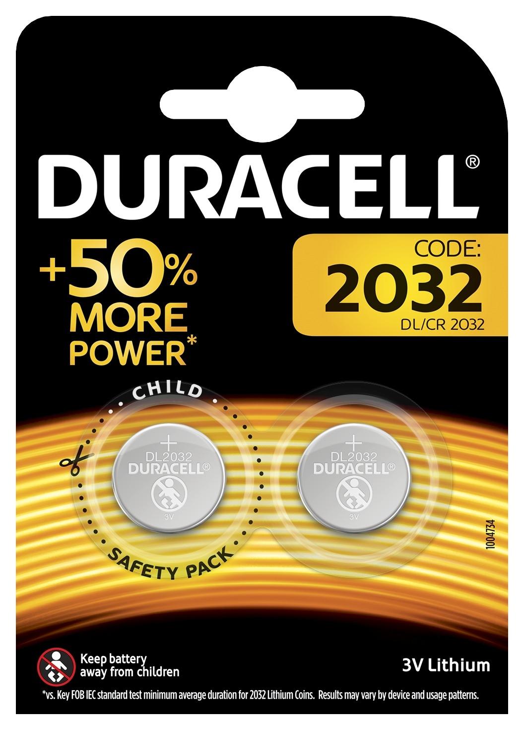 Батарейка Duracell 2032 2 шт 5004349