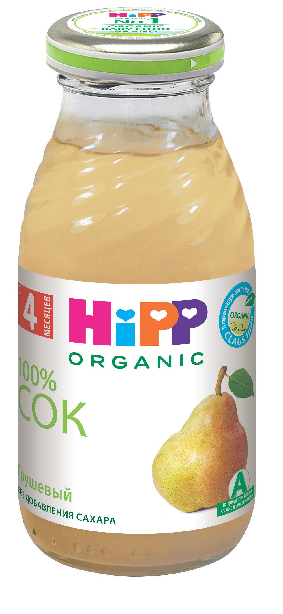 Сок HIPP Hipp Грушевый с мякотью с 4 мес. 200 мл hipp морковно рисовый отвар орс 200 с 4 мес