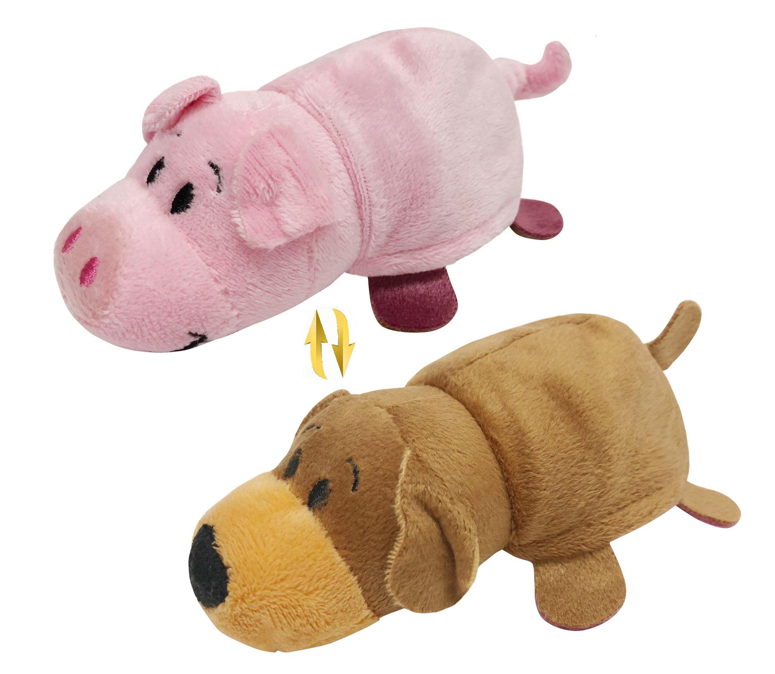 Мягкая игрушка 1toy Вывернушка Ням-Ням. Собака-Свинья 12 см Т13798-18 мягкие игрушки lapa house собака сумка 24 см