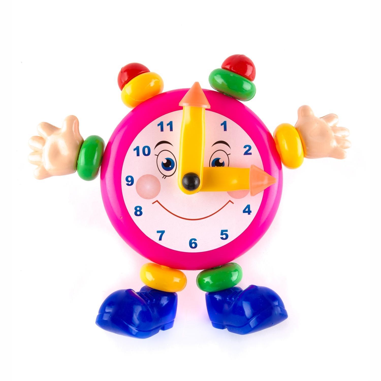 Развивающие игрушки для малышей Пластмастер Веселые часы развивающая игрушка пластмастер счеты фрукты разноцветный