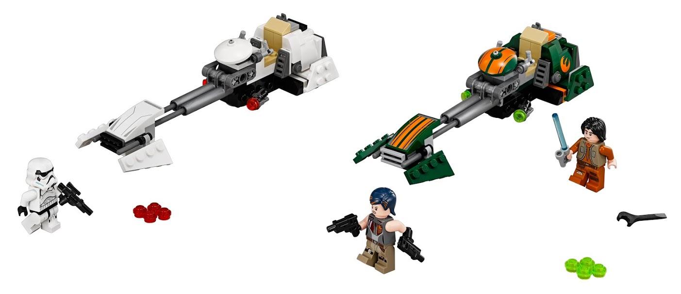 Star Wars LEGO Конструктор LEGO Star Wars 75090 Скоростной спидер Эзры lego lego star wars 75078 транспорт имперских войск