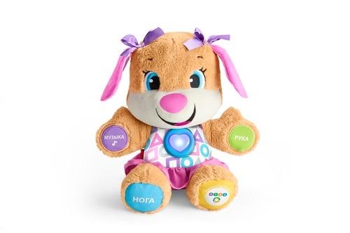 Развивающие игрушки Fisher Price Развивающая игрушка Fisher Price Сестричка Ученого Щенка «Первые слова» первые слова