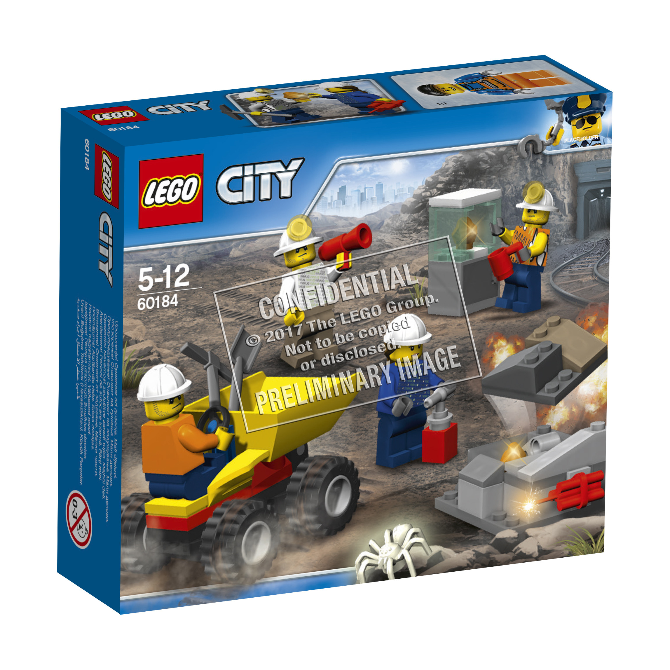 Конструктор LEGO City Mining 60184 Бригада шахтеров конструктор lego city mining 60184 бригада шахтеров