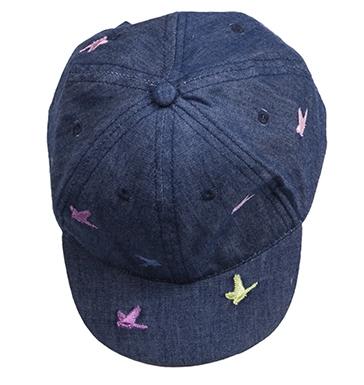 Головные уборы BARQUITO Кепка ILB для девочки синяя crockid crockid ветровка джинсовая для девочки синяя