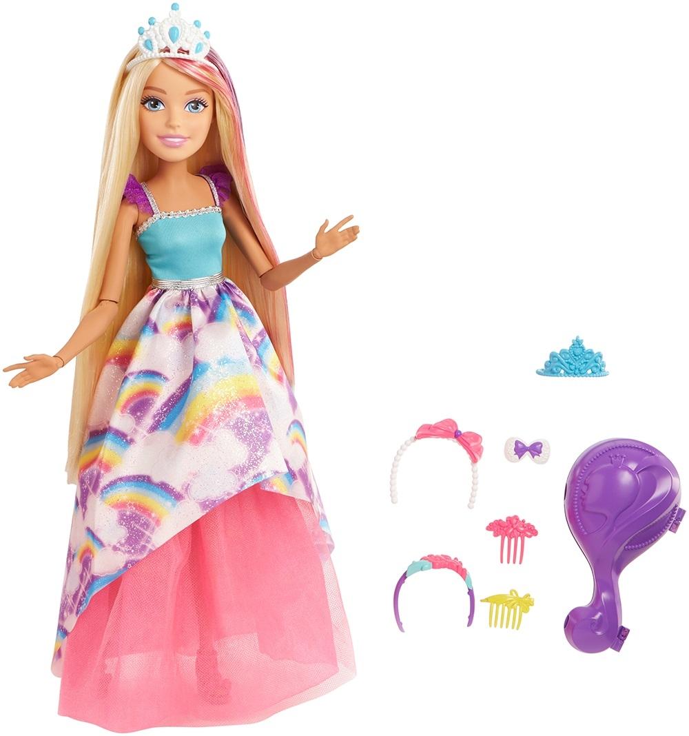 Barbie Barbie Блондинка большая с длинными волосами 43 см наборы аксессуаров для волос esli комплект аксессуаров для волос lovely floral