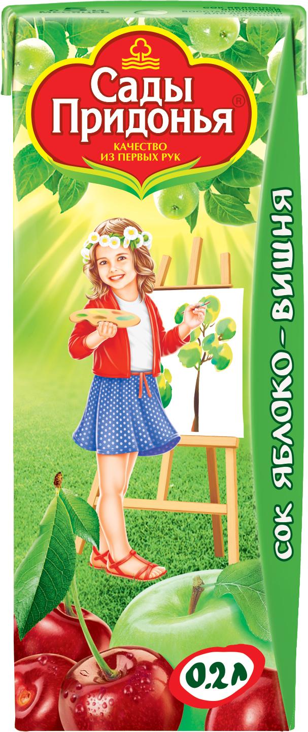 Сок Сады Придонья Сады Придонья Яблоко и вишня с 5 мес. 200 мл вставка romana 490 мм зелёное яблоко