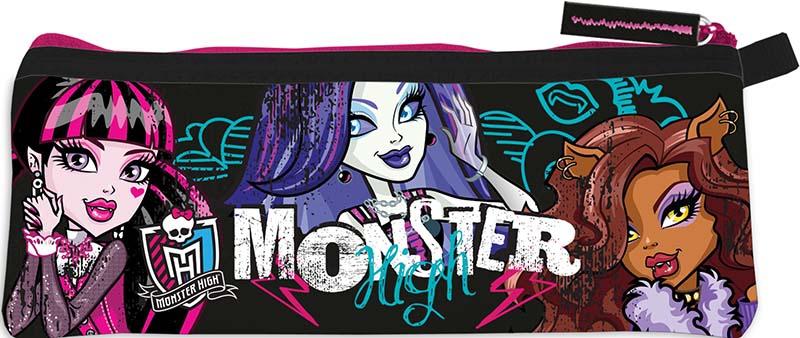 Купить Канцелярия, В форме кармашка, Monster High, Китай, черный, розовый, Женский