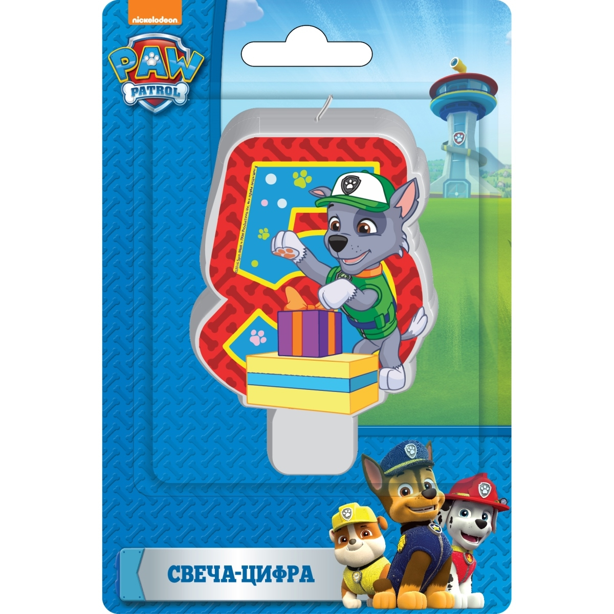Paw Patrol Paw Patrol Свеча Paw Patrol «Цифра 5» 20cm canine patrol dog toys russian anime doll action figures car patrol puppy toy patrulla canina juguetes gift for child m134