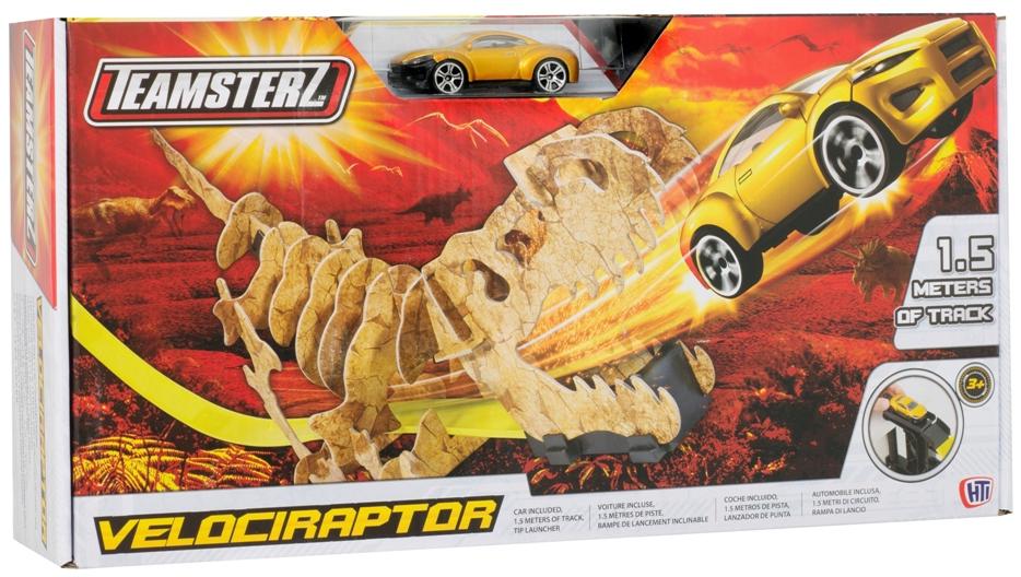 где купить Автотрек HTI Teamsterz: Динозавр Велоцираптор дешево