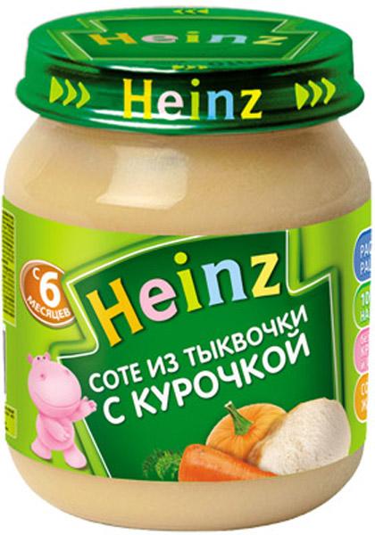 Пюре Heinz Пюре Heinz Соте из тыквы с курицей 6 мес. 120 г пюре heinz фруктовое 120 гр грушка и черничка с печеньем с 6 мес