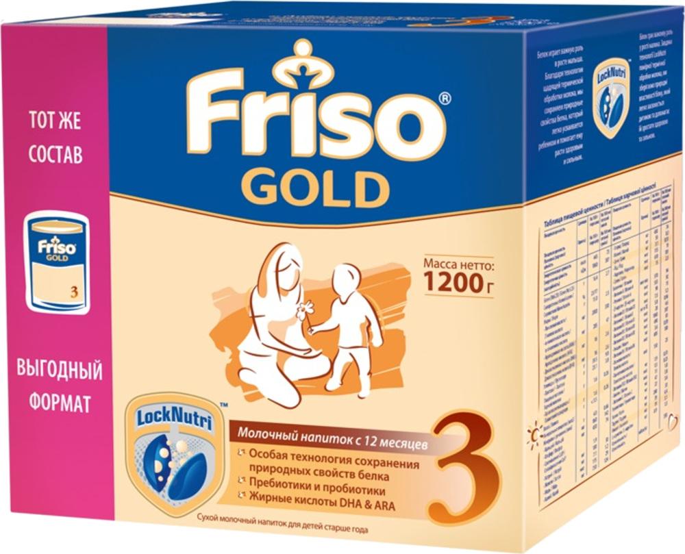 Сухие Friso Friso Gold 3 с 12 мес. 1200 г молочные смеси friso заменитель фрисолак new 1 gold 400 г с 0 мес