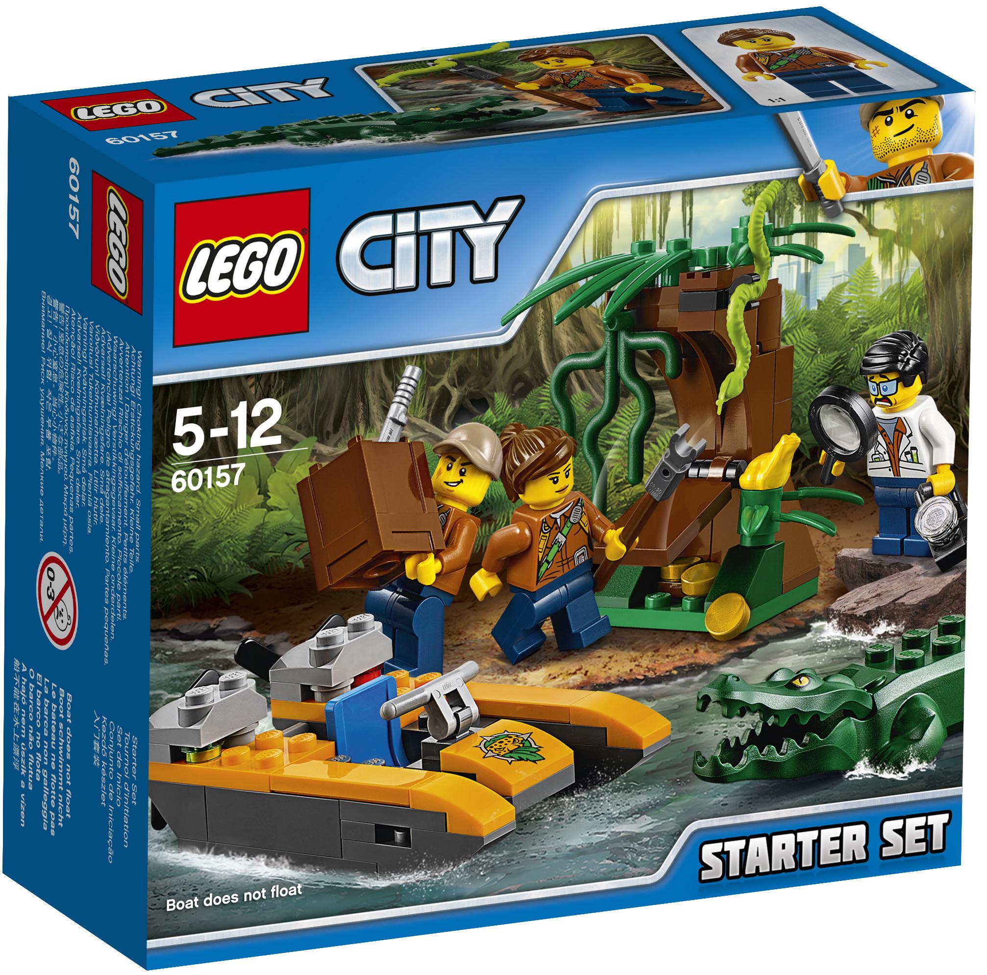 LEGO LEGO Конструктор LEGO City Jungle Explorer 60157 Набор «Джунгли» для начинающих конструктор lego city jungle explorer 60157 набор джунгли для начинающих