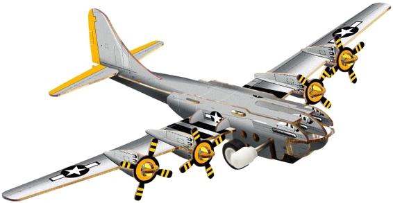 Наборы игрушечных инструментов UF 3D пазл UF «Бомбардировщик» заводной конструкторы uf заводной 3d пазл диплодок